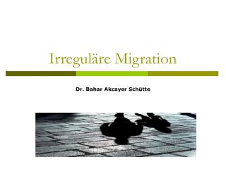 Irregul�re Migration