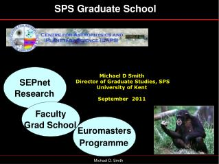 Michael D Smith  Director of Graduate Studies, SPS University of Kent September  2011