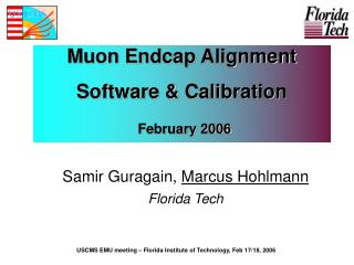 Muon Endcap Alignment Software & Calibration February 2006