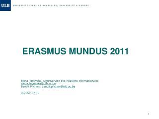 ERASMUS MUNDUS 2011