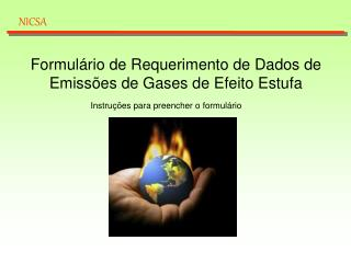 Formulário de Requerimento de Dados de Emissões de Gases de Efeito Estufa