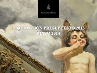 LIQUIDACIÓN PRESUPUESTO 2013 MAYO 2014