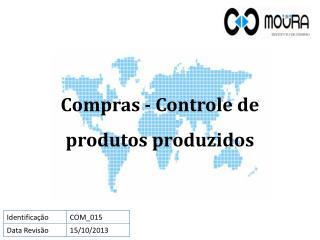 Compras - Controle de produtos produzidos