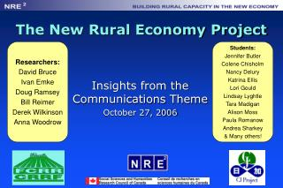 The New Rural Economy Project