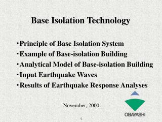 Base Isolation Technology