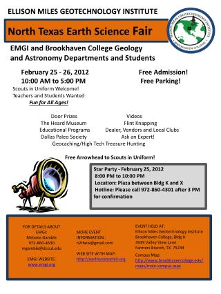 EMGI and Brookhaven College Geology and Astronomy Departments and Students