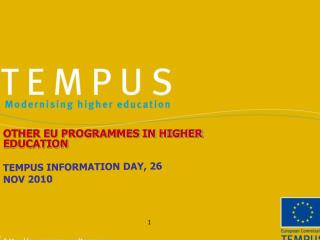 TEMPUS INFORMATION DAY, 26 NOV 2010