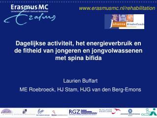 Laurien Buffart ME Roebroeck, HJ Stam, HJG van den Berg-Emons