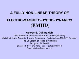 A FULLY NON-LINEAR THEORY OF
