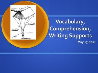 Vocabulary, Comprehension, Writing Supports