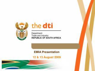 EMIA Presentation 12 & 13 August 2009