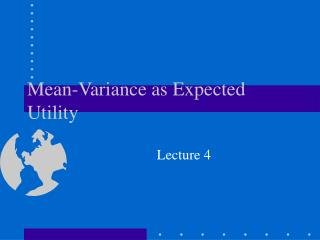Mean-Variance as Expected Utility