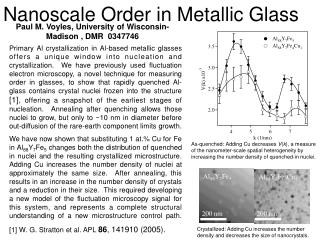 Nanoscale Order in Metallic Glass