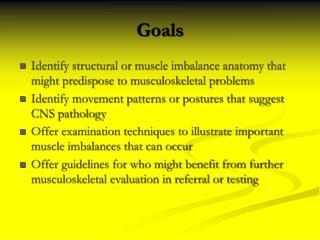 Pediatric Musculoskeletal screening in 5 minutes