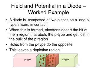 Field and Potential in a Diode – Worked Example