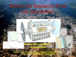 Noise in the Readout of  ATLAS  LAr  Calorimeters