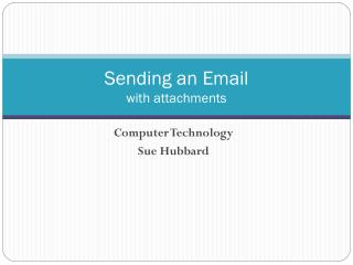 Sending an Email with attachments