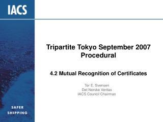 Tripartite Tokyo September 2007  Procedural
