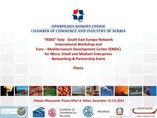 """RISEE"" Italy - South East Europe Network  International Workshop and"