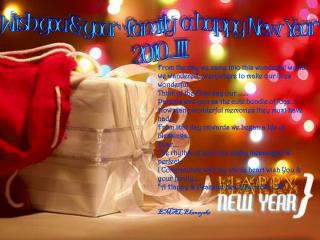 Wish you & your  family  a happy New Year  2010....!!!