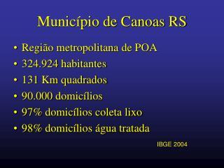 Município de Canoas RS