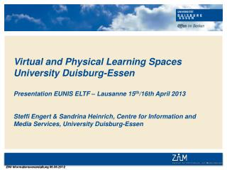 University Duisburg-Essen: Intro