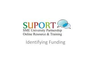 Identifying Funding