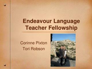 Endeavour Language Teacher Fellowship