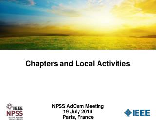 Chapters and Local Activities