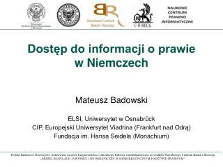 Dostęp do informacji o prawie w Niemczech