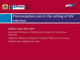 Preconception care in the setting of HIV infection
