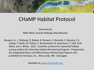 CHaMP Habitat Protocol