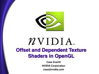 Offset and Dependent Texture Shaders in OpenGL
