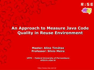 An Approach to Measure Java Code Quality in Reuse Environment