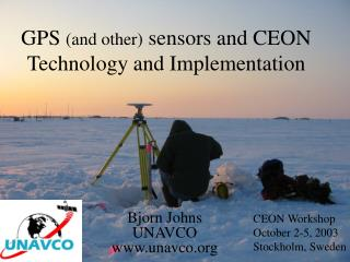 GPS  (and other)  sensors and CEON  Technology and Implementation