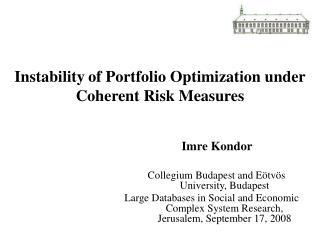Instability of Portfolio Optimization under Coherent Risk Measures