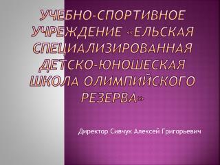 Директор  Сивчук  Алексей Григорьевич