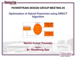 POWERTRAIN DESIGN GROUP MEETING #5