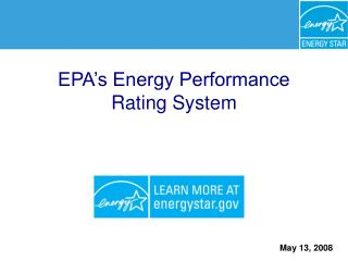 EPA s Energy Performance Rating System