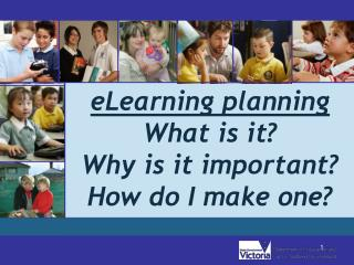 eLearning planning  What is it? Why is it important? How do I make one?