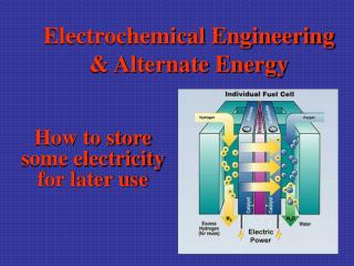 Electrochemical Engineering & Alternate Energy