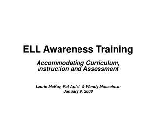 ELL Awareness Training