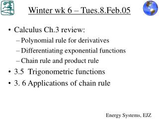 Winter wk 6 � Tues.8.Feb.05