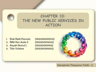 CHAPTER 10: THE NEW PUBLIC SERVICES IN ACTION