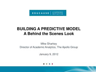 Building A Predictive Model A Behind the Scenes Look