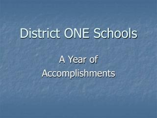 District ONE Schools