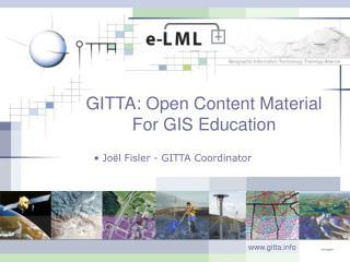 GITTA: Open Content Material For GIS Education