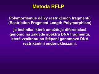 Metoda RFLP