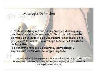 Mitología. Definición