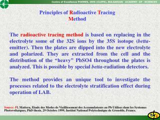 Source: Fl. Mattera, Etude des Modes de Vieillissement des Accumulateurs au Pb Utilises dans les Systemes Photovoltaique